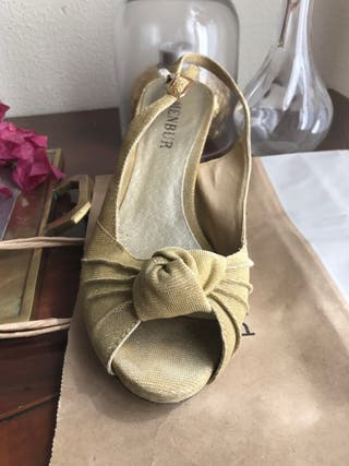 Sandalias boda peep toes , usadas en 2 ocasiones