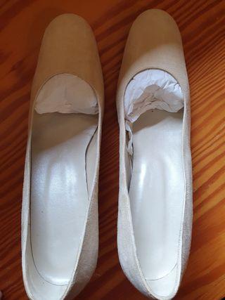 zapatos Patini de novia color crema 37-38
