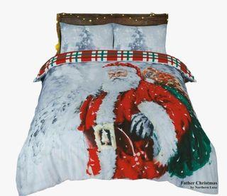 CHRISTMAS FATHER SANTA DUVET SET Double /King