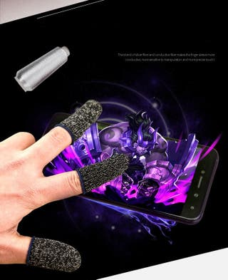 1 pair mobile game controller finger sleeve for PU