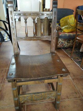 silla madera maciza