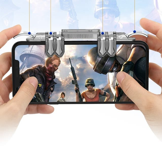 PUBG 6 Fingers Gaming Trigger Shooter Controller G