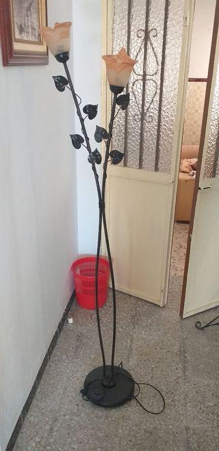 lampara de pie florero
