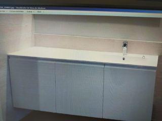 Encimera lavabo de 160,5cm