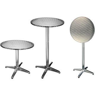HI Mesa plegable de aluminio redonda tipo bistró 6