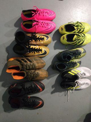 Lote 7 botas Futbol
