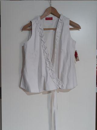 Blusa blanca Rociera y flamenca