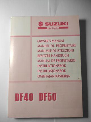 manual de propietario fueraborda Suzuki DF40 DF50