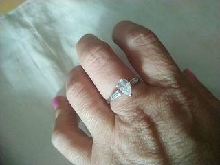 anillo de plata tresillo