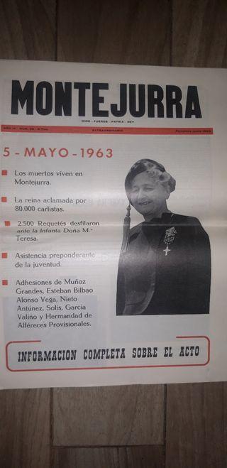 periódico carlista montejurra 1963