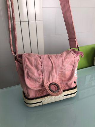 Bolso bandolera converse rosa vintage