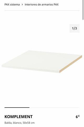 Balda KOMPLEMENT 50x58cm PAX IKEA