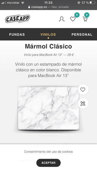 Vinilo para macbook air 13''