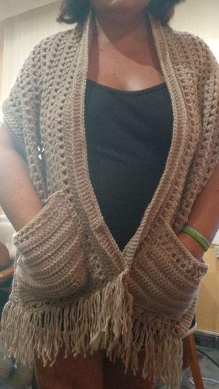 bufanda con bolsillos