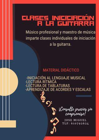CLASES DE INICIACIÓN A LA GUITARRA