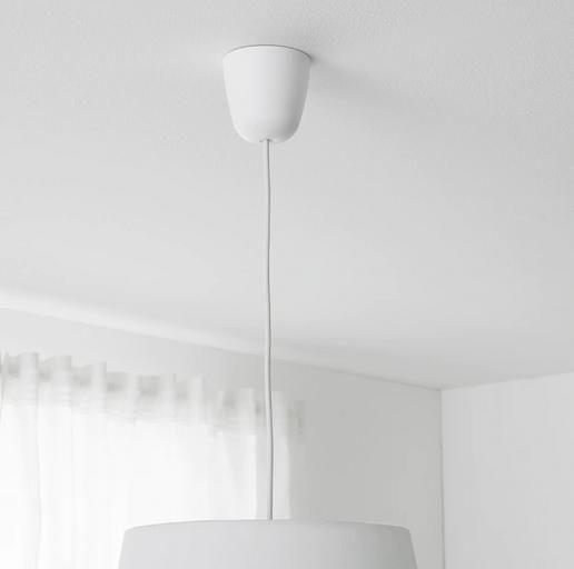 Ikea Hemma - Montura lámpara de techo blanco (x2)
