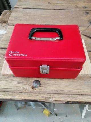 Maletin Porta Cassettes años 70