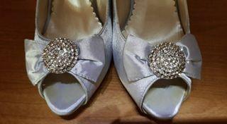 Zapato 39 plateado