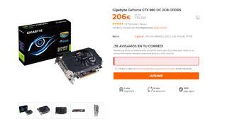 TARJETA GRÁFICA - GTX 960 GYGABITE OC 2GB