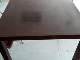 Mesas madera color wengue
