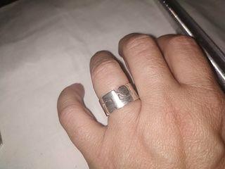 anillo de plata macizo