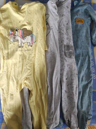lote pijamas enterizos 12 meses