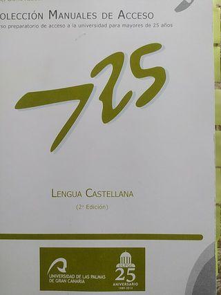 Lengua Castellana Acceso universidad 25 años