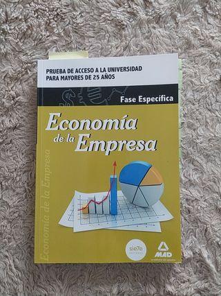Economía de la empresa acceso universidad >25