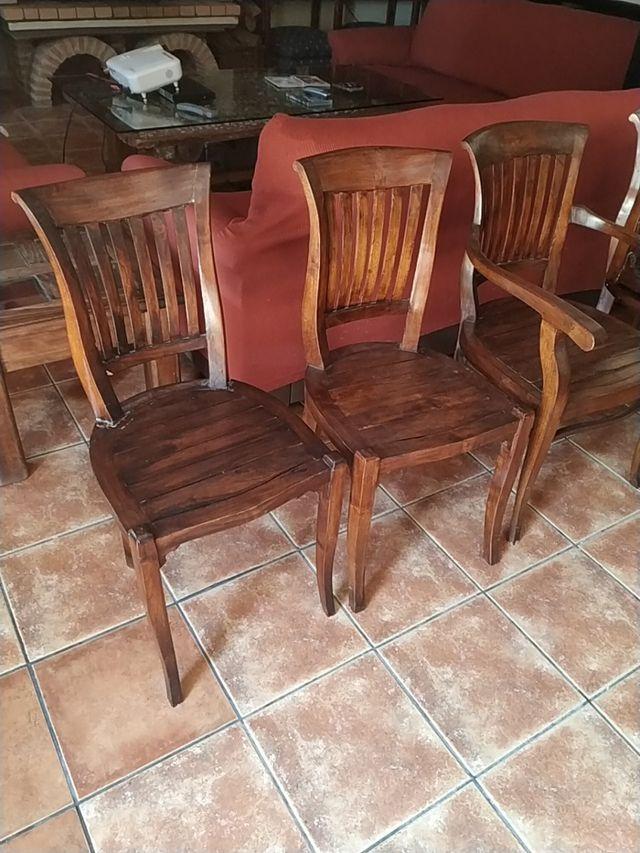sillas de teka