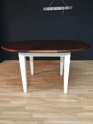 mesa madera maciza esmaltadas