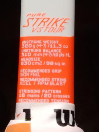Raqueta de tenis Babolat Pure Strike VS Tour
