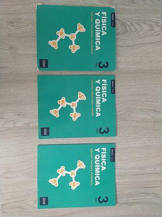 Tres volúmenes Física Y Química 3 ESO.