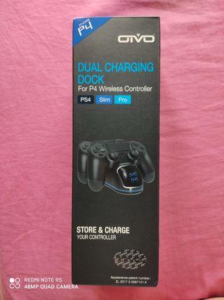 cargador de mandos inalámbricos PS4, Slim y Pro.