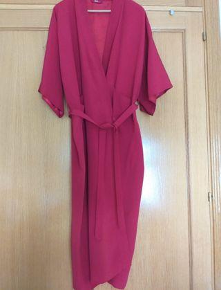 vestido/ chaqueta rojo larga talla L