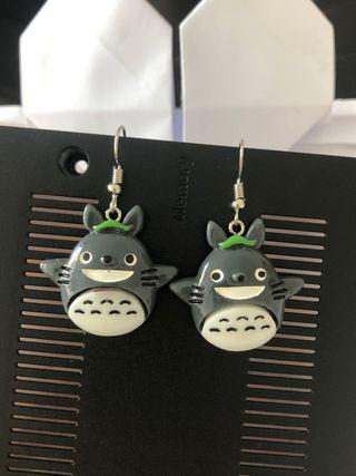 Boucles Earrings Ohrringe Pendientes Totoro