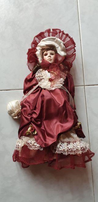 Muñeca porcelana coleccionismo victoriana(Vintage)