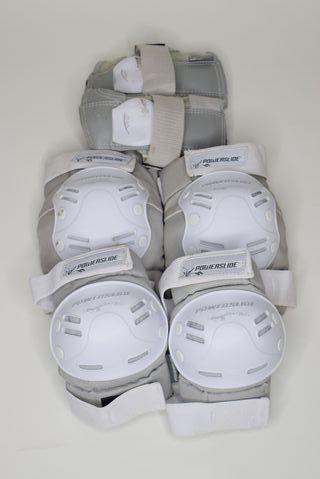 Protecciones patinaje blanco