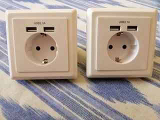 enchufe doble USB