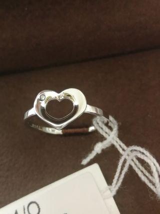Anillo NUEVO de plata con diamante, HOT DIAMONDS.