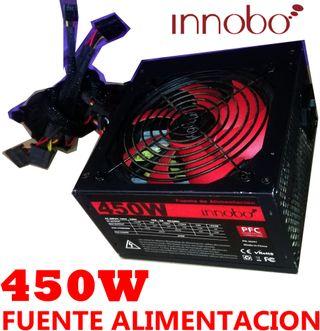 FUENTE ALIMENTACION 450W innobo 2sata 2ide atx