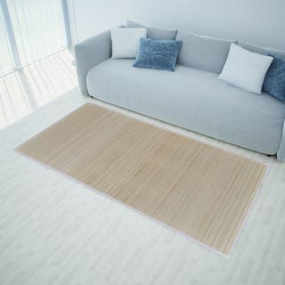 Alfombra de bambú natural rectangular, 150 x 200 c