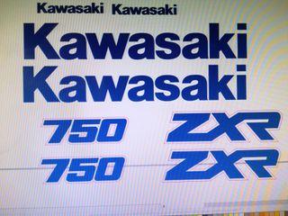 Kit pegatinas kawasaki zxr 750