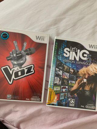 Pack 2 Juegos de karaoke para Wii