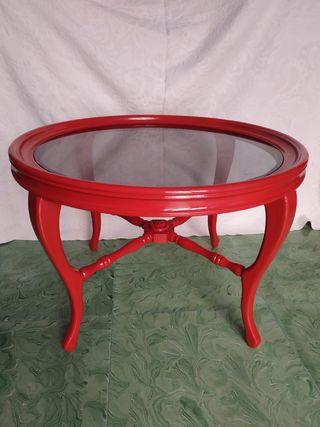 Mesa auxiliar roja