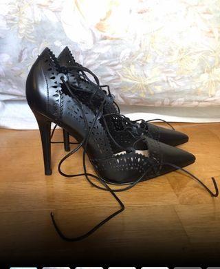 Zapatos de tacón de Zara piel