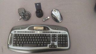 Teclado y raton inalámbrico Logitech MX 5000
