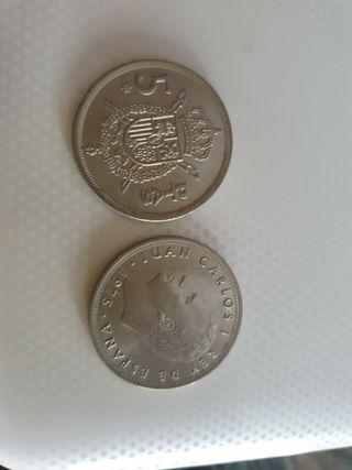 Monedas antiguas 5 pesetas.