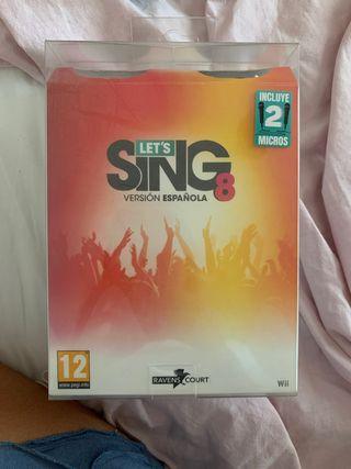 """Juego de Wii """"karaoke/ sing a la española """""""