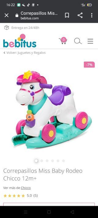 Juguete caballo balancín Chicco 3 en 1