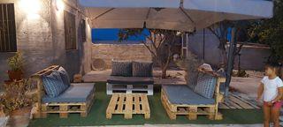 conjunto de sofa con cojines